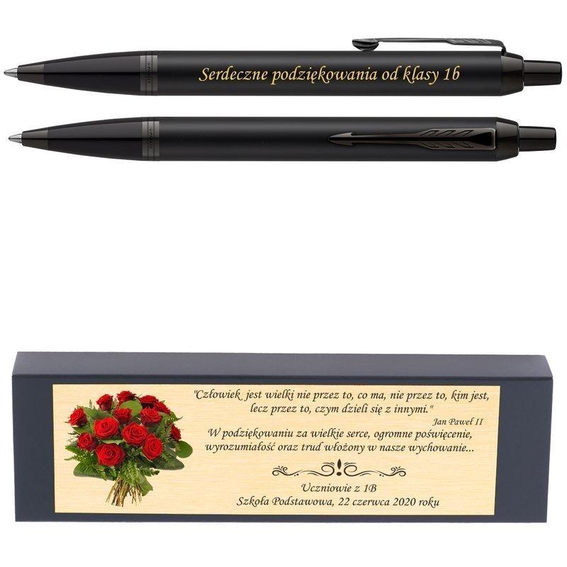 Długopis Parker IM Achromatic Czarny Nowość z Grawerem i Dedykacją