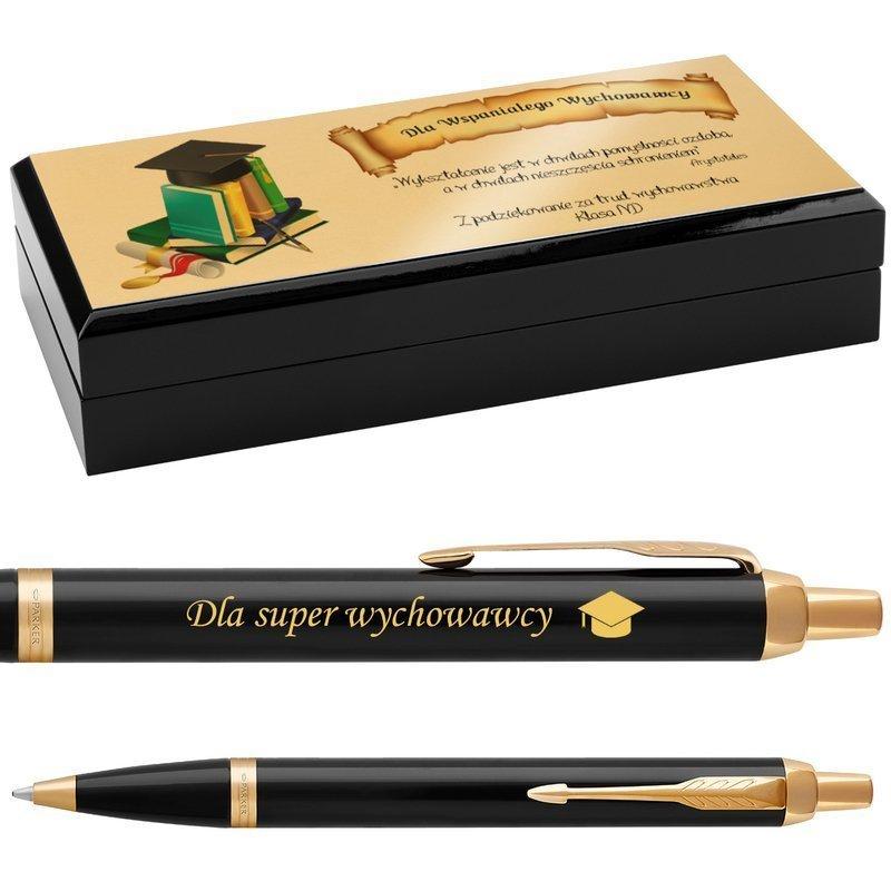 Długopis Parker IM Czarny GT Grawer i Dedykacja