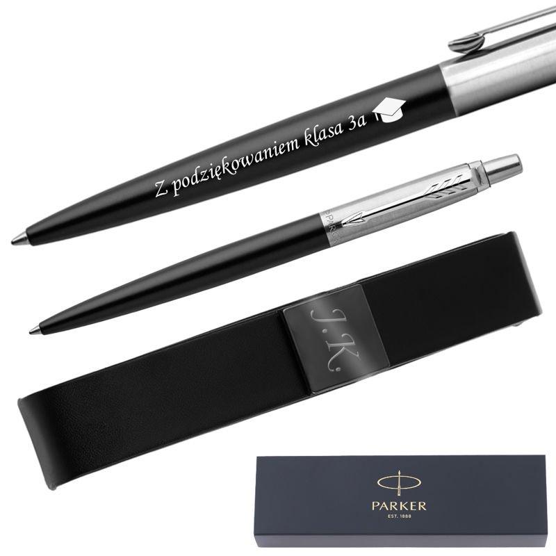 Długopis Parker Jotter CT Bond Street Czarny + Etui Grawer