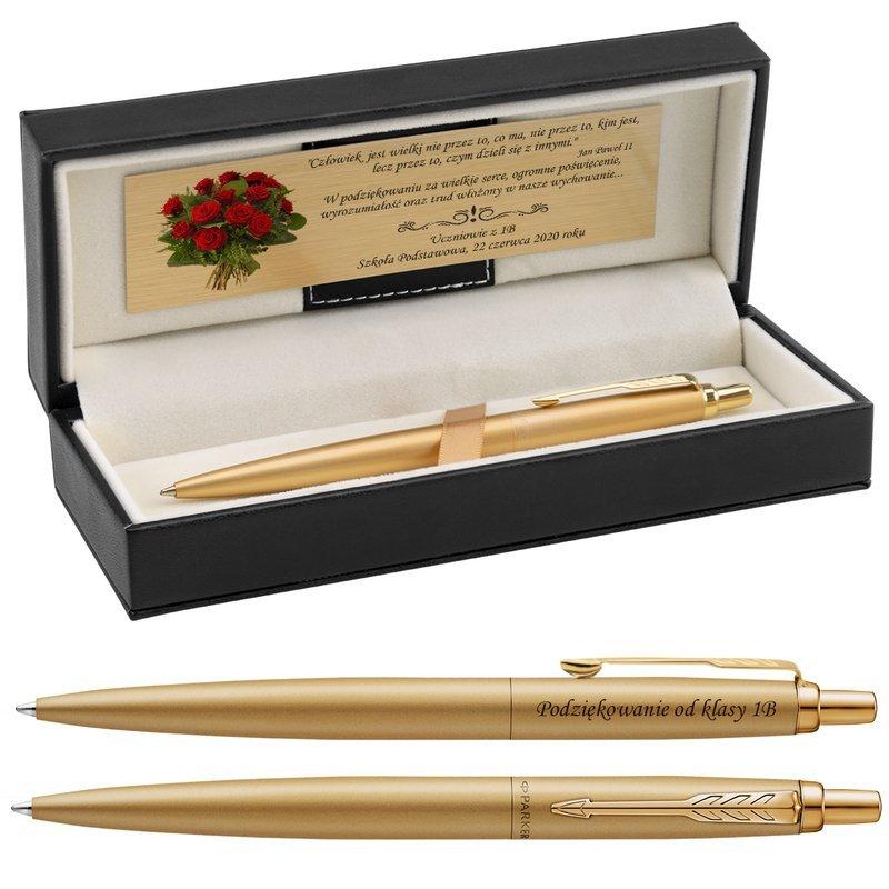 Długopis Parker Jotter XL Monochrome Gold Grawer