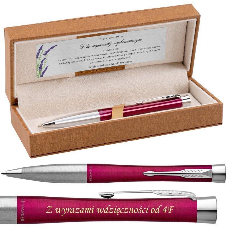 Długopis Parker Urban Twist CT Różowy Grawer+Dedykacja