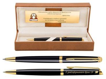 Długopis WATERMAN HEMISPHERE czarny GT Grawer