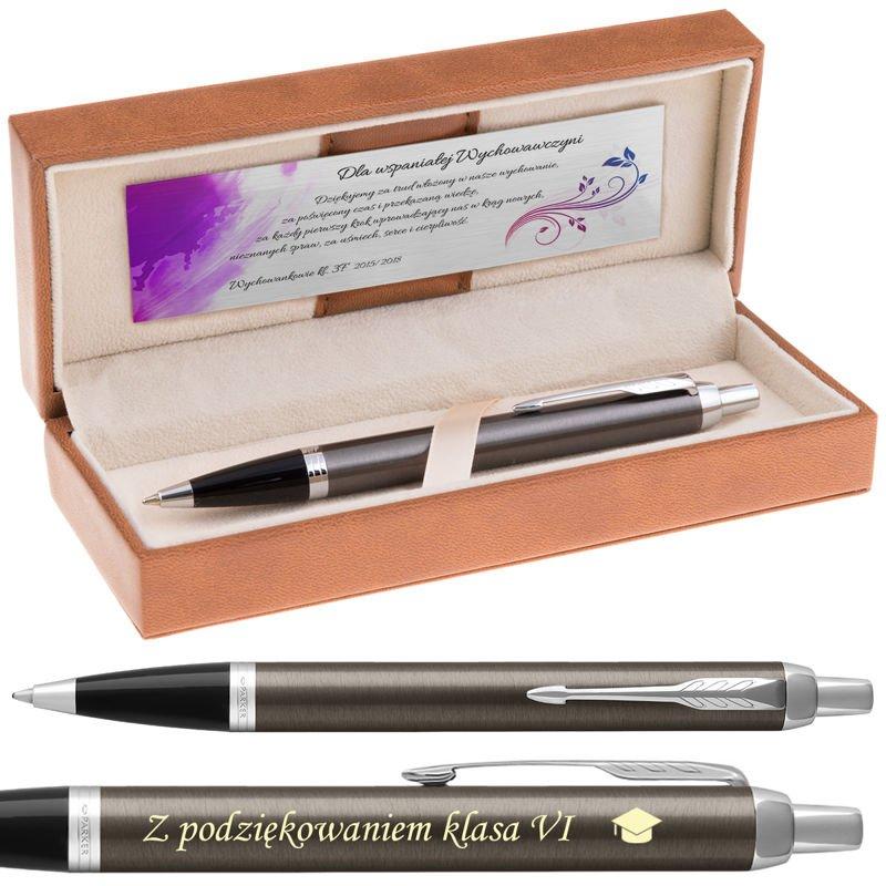 Parker IM Długopis Dark Espresso CT Grawer