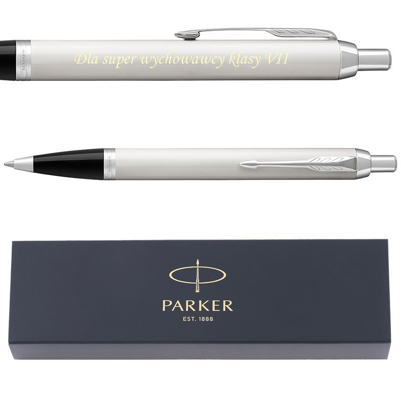 Parker IM Długopis IM white CT Grawer