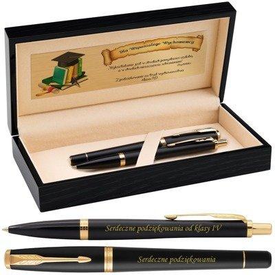 Zestaw Parker Urban Pióro i Długopis Muted Black GT Grawer Dedykacja