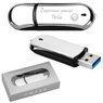 Pendrive chromowo-czarny 32 GB Pamięć USB prezent z Grawerem 7