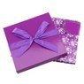 Pudełko na prezent fioletowe rozmiar L 22,5 x14 cm 3