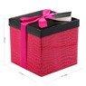 Pudełko na prezent różowy wzór M 2