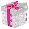 Pudełko na prezent szaro-różowe XS 1