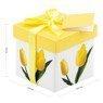 Pudełko prezentowe w żółte tulipany XS 3