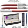 Zestaw Długopis Ółówek Pióro wieczne Jotter Parker Czerwony CT Prezent Grawer 3