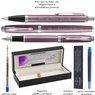 Zestaw Parker IM Długopis Pióro Jasnofioletowy CT Grawer 7