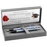Zestaw Parker IM Pióro + Długopis Blue Grey CT z Grawerem 2