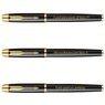 Zestaw Parker IM czarny GT Pióro wieczne Długopis GRAWER 1