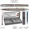 Zestaw Pióro i Długopis Parker IM Gun Metal CT z Grawerem 3