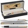 Zestaw Pióro i Długopis Parker Jotter stalowe GT Eko Pudełko Grawer 1