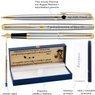 Zestaw Pióro wieczne Długopis Waterman Hemisphere stalowy GT z Grawerem 3
