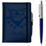 Zestaw notes reklamowy z długopisem A5 Nebraska Niebieski z Grawerem 1