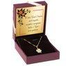 Złoty komplet koniczynka z cyrkoniami pr. 585 GRAWER różowa kokardka 1