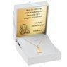 Złoty medalik z Matką Boską w ramce pr. 585 Chrzest Komunia Bierzmowanie GRAWER niebieska kokardka 7